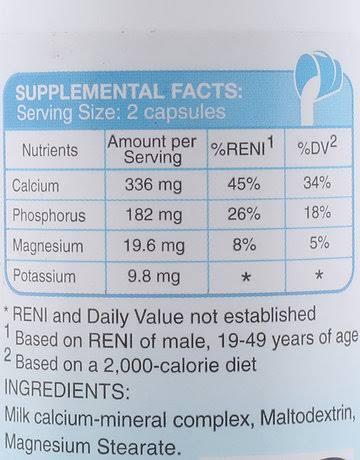 MilkCa Supplements Facts